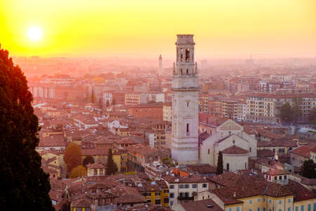 Panoramic view of the City of Verona, Italy