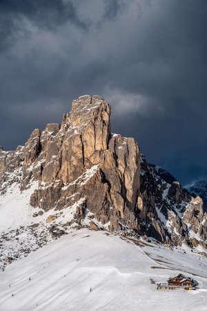 Fantastic winter landscape near Passo Giau - Dolomites - Italy