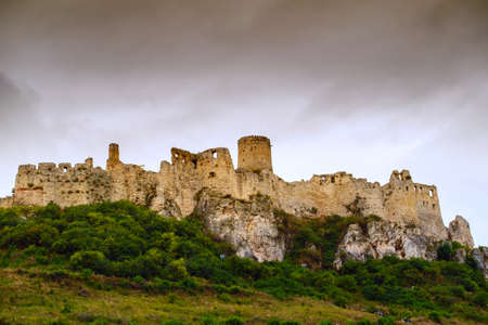 Spissky hrad. The Spis Castle in Central Europe Slovakia.