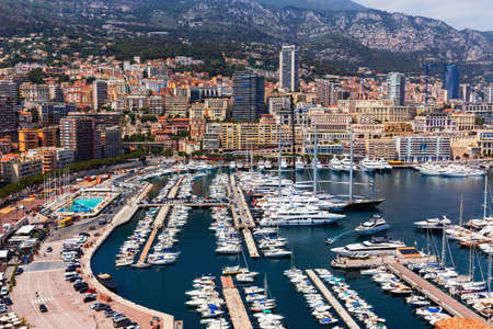 Beautiful panoramic view on Monte Carlo,Monaco,Cote d'Azur,Europe