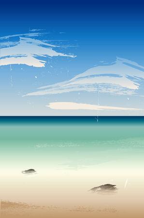 Summertime at the beach, sea Stock Vector - 6991439