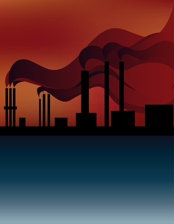 pipe smoke polluting the atmosphere, the environment Vector