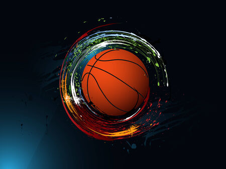 sports backgrounds: dirty abstract grunge background, Basketball