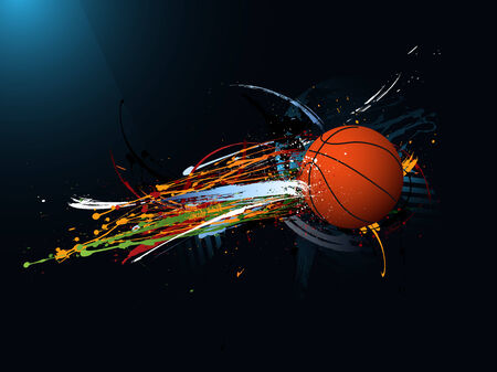 basketball background: dirty abstract grunge background, Basketball