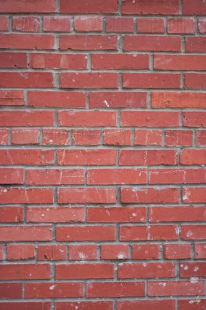 wall of the house of red brick photo