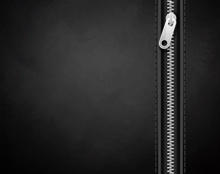 textuur: zwarte achtergrond gemaakt van leer met een slot Stock Illustratie
