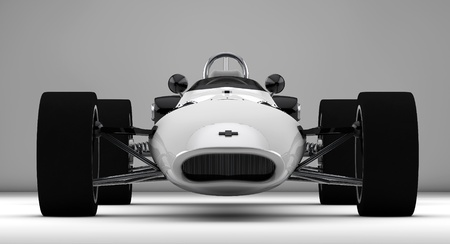 racing sports car concept in retro style  photo