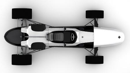 racing sportwagen concept in retro-stijl Stockfoto