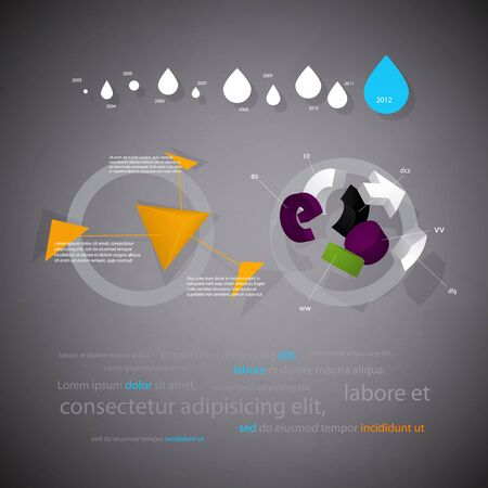 infographics statistical three-dimensional report with interest  Vector