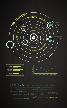 infographics abstract presentation of business companies Stock Vector - 10774502