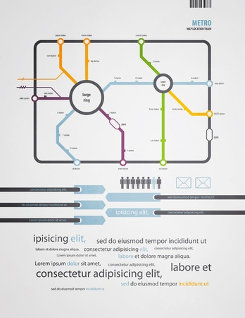 infographics subway in the old style Vector