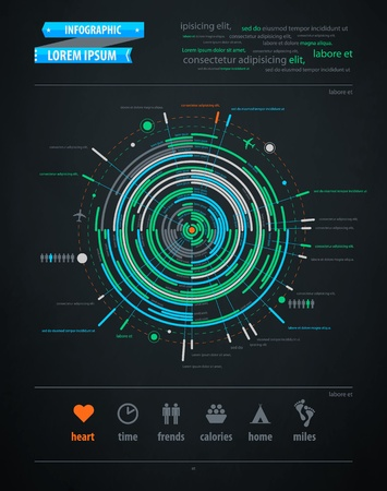 the topics: abstract infographics element on transportation topics Illustration