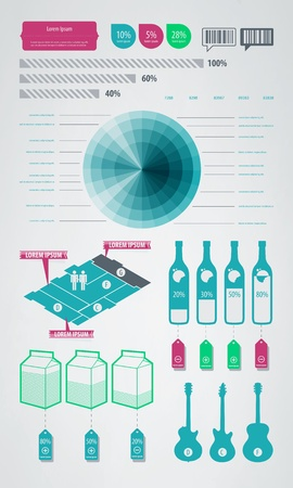 bar code: infographics element icons and symbols
