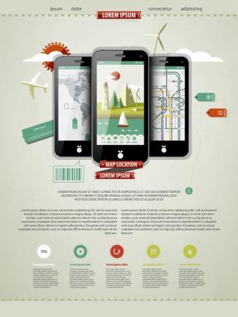 gadget: annoter une page avec trois t�l�phones mobiles