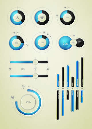infographics element on water and liquid  Vector