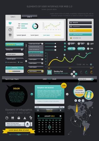 visualize: Elementi di Infografica con bottoni