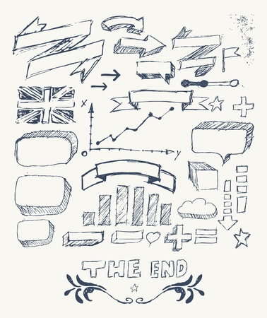 Hand drawn infographics vector Stock Vector - 20661954