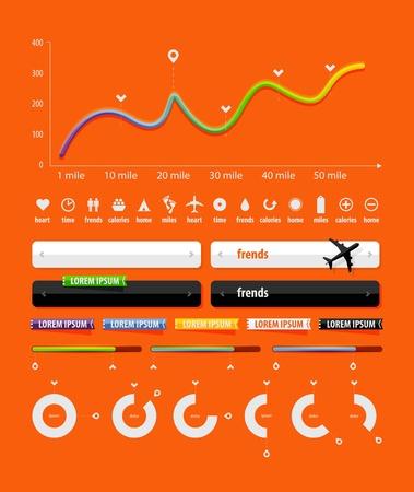 graph: Elements of Infografik mit Schaltfl�chen und Men�s