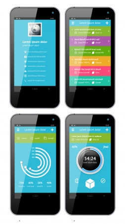 Simple vector template interface for phone  Stock Vector - 15977912