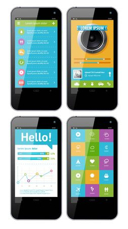Simple vector template interface for phone Stock Vector - 15977897