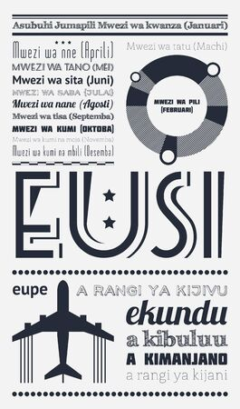 vintage newspaper: typography with elements of infographics and icons