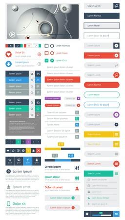 planos: Interfaz de usuario es un conjunto de componentes hermosas con la tendencia de dise�o plano