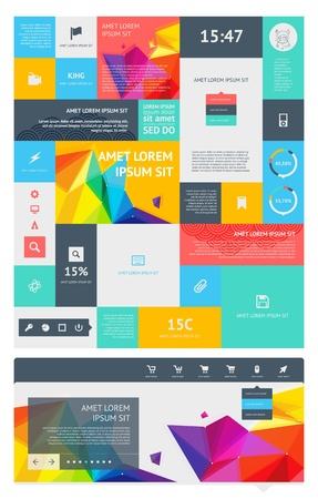 visualization: a set of beautiful components featuring the flat design trend