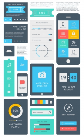 web: a set of beautiful components featuring the flat design trend