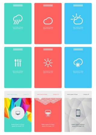 a set of beautiful components featuring the flat design trend Vector