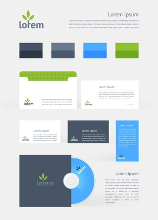 Stationery, Branding Mock-Up template Vector