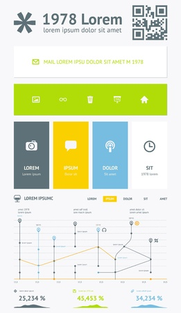 Vector Flat Elements of Infographics  Font  PT-Sans Illustration