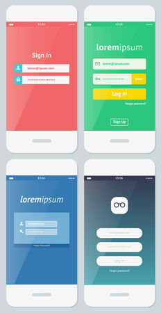 Beautiful Examples of Login Forms for Websites and Apps Vector