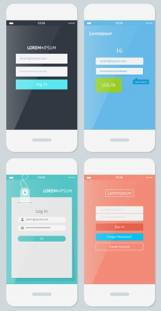 login icon: Beautiful Examples of Login Forms for Websites and Apps