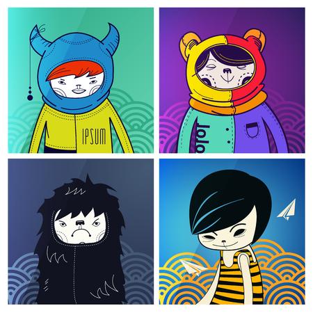 indie: divertidos personajes modernos inconformistas