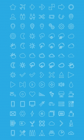 Modern vector Icons set in flat style Stock Vector - 24804228