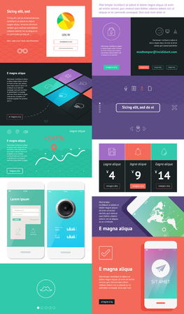 user interface design Illustration