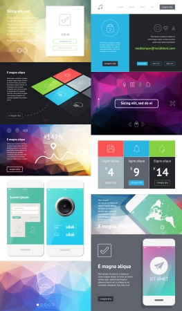 ui: UI is a set of components featuring the flat design Illustration