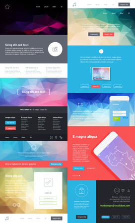 UI is a set of components featuring the flat design Illustration