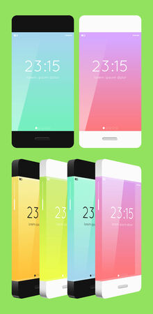 vector template phone in flat style Vector