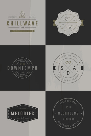 handcrafted: 34 Trendy Retro Vintage Insignias Bundle