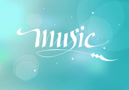 vector calligraphic inscription music Illustration