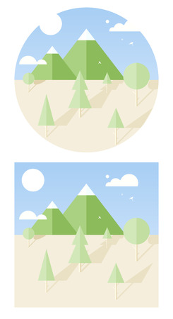 hipster vector landscape flat style Vector
