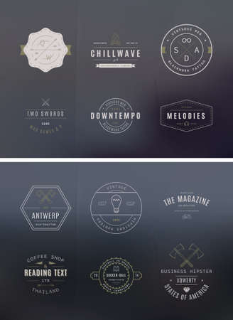 handcrafted: 39 Trendy Retro Vintage Insignias Bundle Volume 2