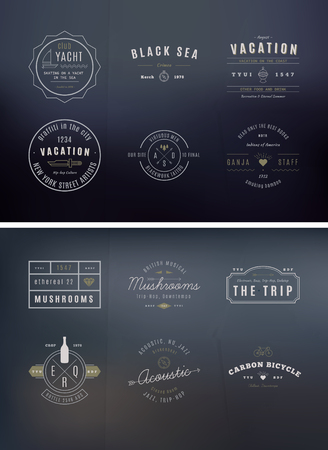 handcrafted: 39 Trendy Retro Vintage Insignias Bundle