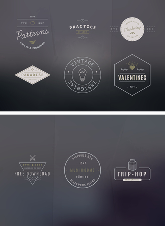 39 Trendy Retro Vintage Insignias Bundle Volume Illustration
