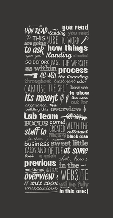 old style lettering: abstract vector background of handwritten text Illustration