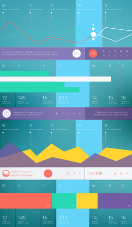 Elements of Infographics with buttons and menus  Vector illustration  Illustration