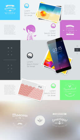 resizable: Elements of User Interface for Web  Vector illustration
