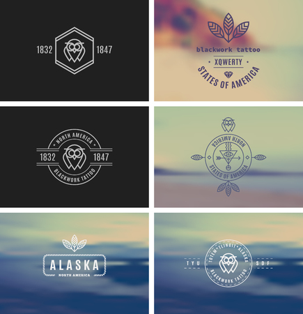 kit design: Trendy Retro Vintage Insignias Bundle