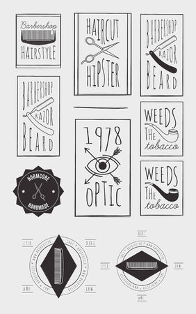 handcrafted: Trendy Retro Vintage Insignias Bundle